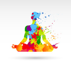 meditazione, idea, colori, creatività, idee
