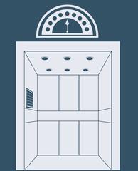 elevator design, vector illustration