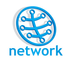 Abstract closed network icon