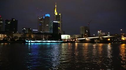 Frankfurt am Main city skyline night view