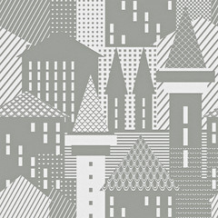 Abstract town. Architectural textured background.