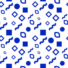 Hipster seamless pattern of different shapes