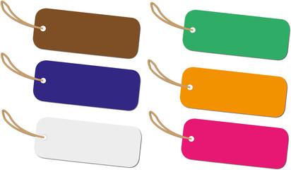 illustrazione di 6 etichette colorate