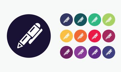 Ballpoint pen icon. Education symbol.
