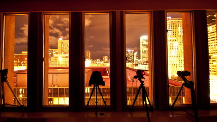 Time Lapse of Photographers at Night