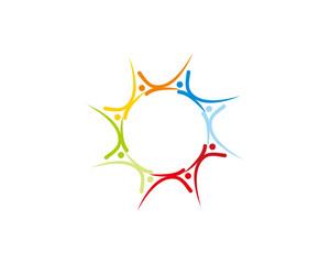 Abstract K teamwork Logo Icon 1