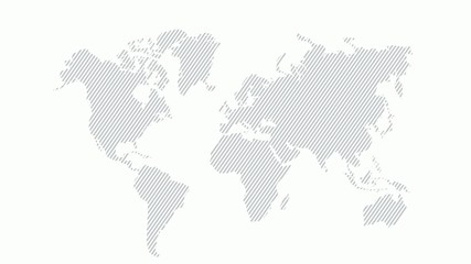 Striped Map / Animated map / Background / World Global Map/ info