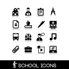 School icons set 1.