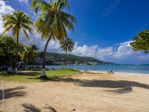 canvas print picture Turtle Beach in Ocho Rios,  Region Saint Ann, Jamaika, Antillen
