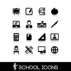 School icons set 5.