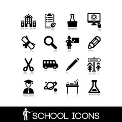 School icons set. Education symbols 3.