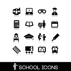 School icons set. Education set icons 9.
