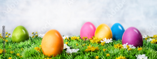 canvas print picture Easter eggs