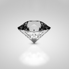 Diamond on a light grey background