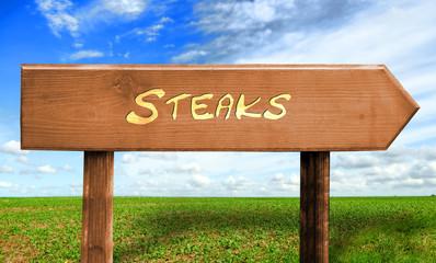 Strassenschild 30 - Steaks