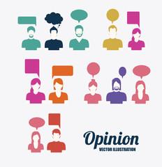 opinion desing vector illustration