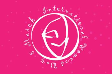 Vektör Amblem Dünya Kadınlar Günü 8 Mart