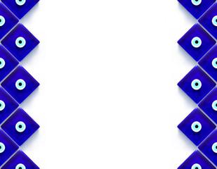 Nazar Boncuğu Mozaik Çerçeve
