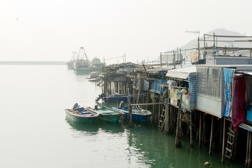 Chinese fishing village