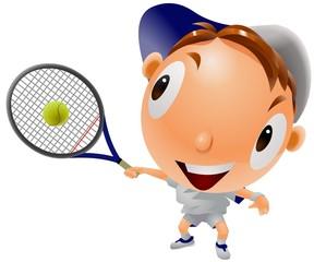 テニス 男の子 テニス教室 イラスト