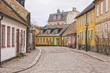 Lund Cobbled Street Scene