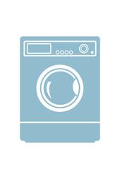 Washing machine icon on white background