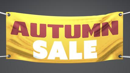 Vendita d'autunno, striscione pubblicità