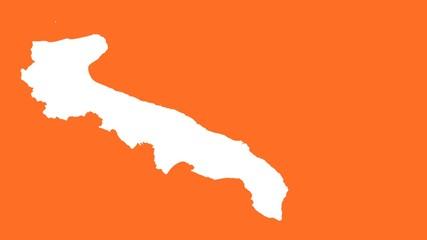 Apulia: negative silhouette