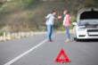 Couple after a car breakdown - 78834973