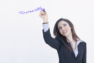 Growth business young girl