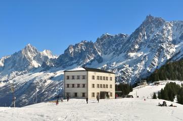Station de ski dans le massif du Mont-Blanc