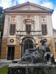 Abandoned Monument inside Villa Albani in Rome, Italy