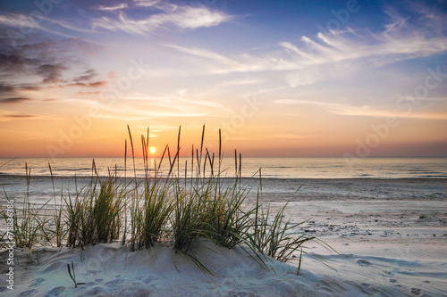 Staande foto Strand Calm pastel evening