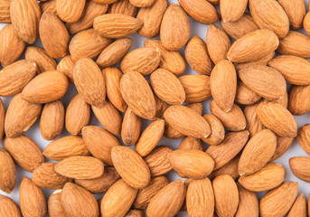 Close up view of raw almond nut