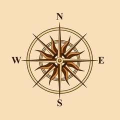 old compass for design card