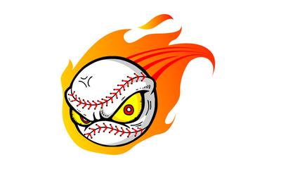Ball Eyes Fire Motion Icon Logo Vector