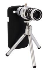 Telescopic lens attachment for a smartphone