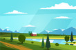 Natural landscape. Vector illustration. - 78838531