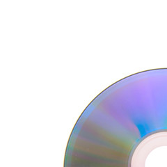 DVD, CD Isolated on White Background