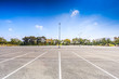canvas print picture - Empty parking lot