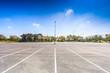 Leinwanddruck Bild - Empty parking lot