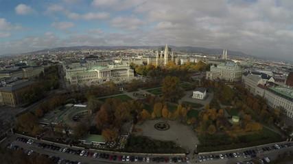 Austrian Parliament, Rathaus and Austrian National Theater in Vi