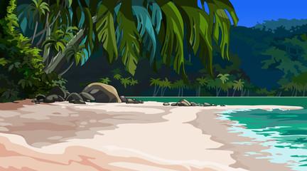 landscape tropical coast