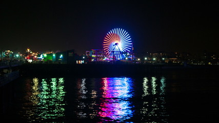 Time Lapse of the Santa Monica Pier at Night