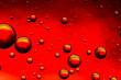 Red and gold oil and water abstract