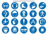 Gebotsschilder Set nach ASR 1.3 und ISO 7010 neu