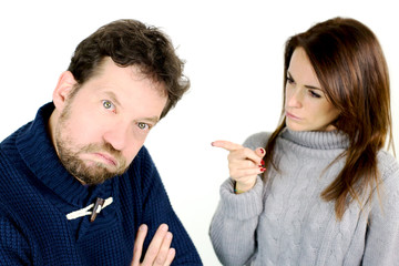 Woman angry with husband funny