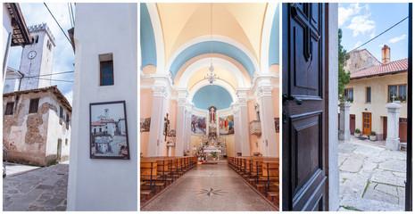 Interno ed esterni di una chiesa
