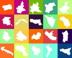 Regions of Italy: a collage