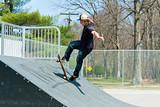 Skateboarder On a Skate Ramp